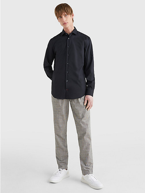 TOMMY HILFIGER Slim Fit Stretch Cotton Shirt - 099 - TOMMY HILFIGER Formal Shirts - detail image 1