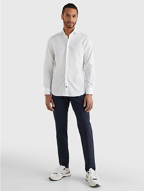 TOMMY HILFIGER Slim Fit Stretch Cotton Shirt - 100 - TOMMY HILFIGER Tailored - detail image 1
