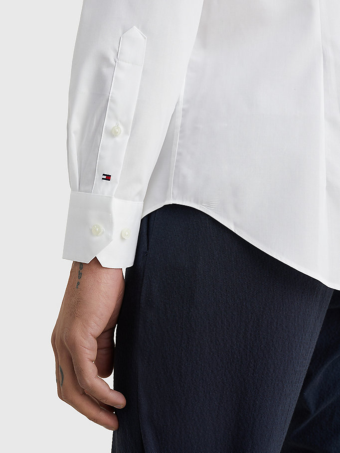 TOMMY HILFIGER Slim Fit Stretch Cotton Shirt - 410 - TOMMY HILFIGER Men - detail image 2