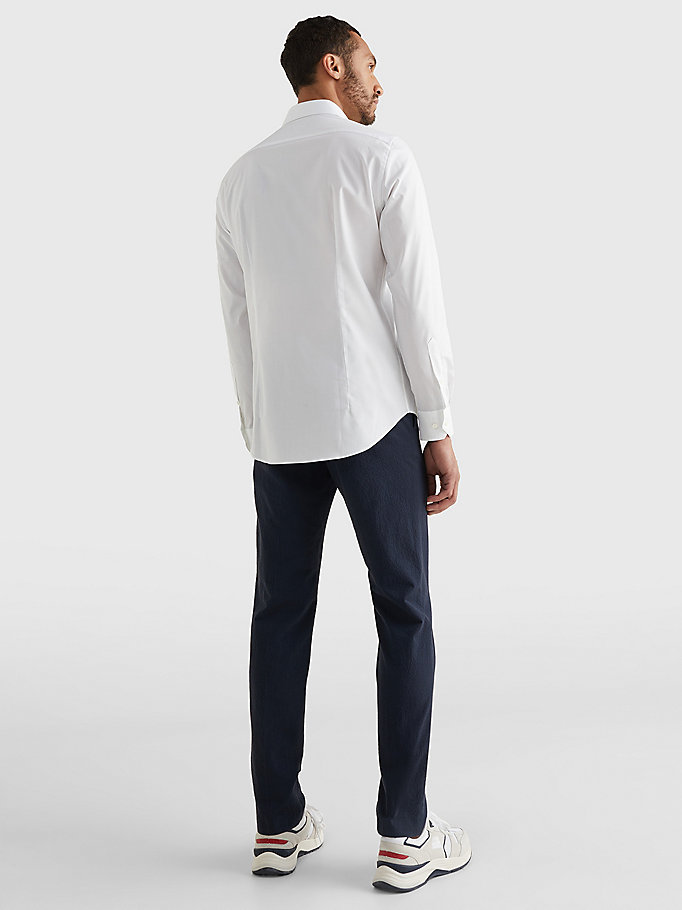 TOMMY HILFIGER Slim Fit Stretch Cotton Shirt - 410 - TOMMY HILFIGER Men - detail image 3