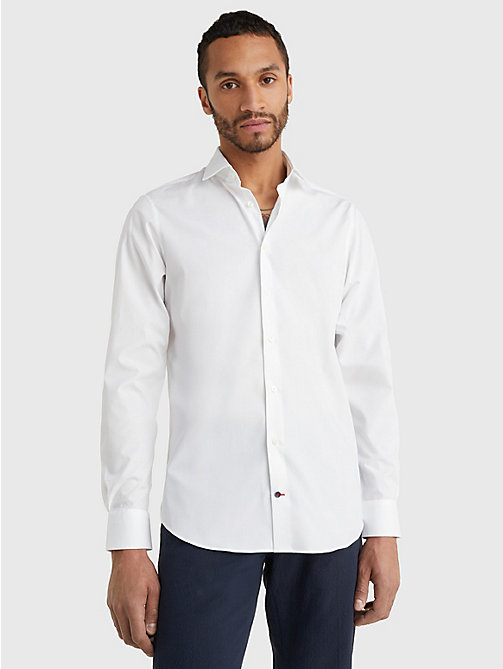 TOMMY HILFIGER Slim Fit Stretch Cotton Shirt - 100 - TOMMY HILFIGER Tailored - main image