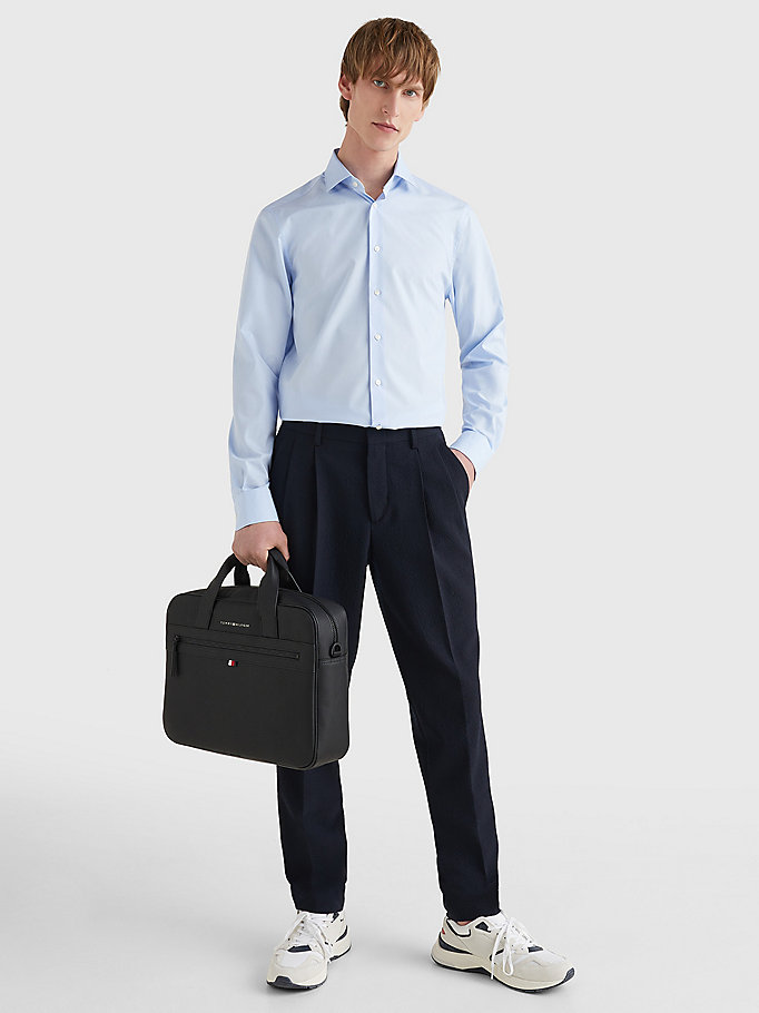 TOMMY HILFIGER Slim Fit Stretch Cotton Shirt - 099 - TOMMY HILFIGER Men - detail image 1