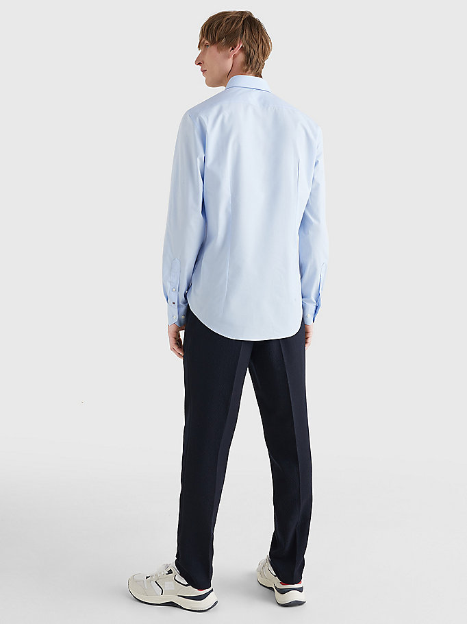 TOMMY HILFIGER Slim Fit Stretch Cotton Shirt - 099 - TOMMY HILFIGER Men - detail image 3