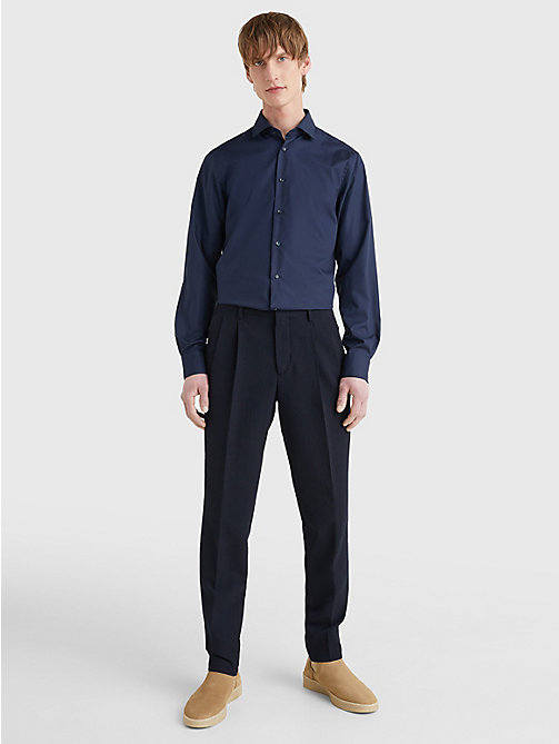 TOMMY HILFIGER Slim Fit Stretch Cotton Shirt - 429 - TOMMY HILFIGER Tailored - detail image 1