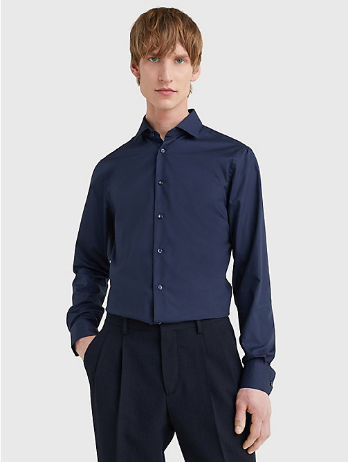 TOMMY HILFIGER Slim Fit Stretch Cotton Shirt - 429 - TOMMY HILFIGER Formal Shirts - main image