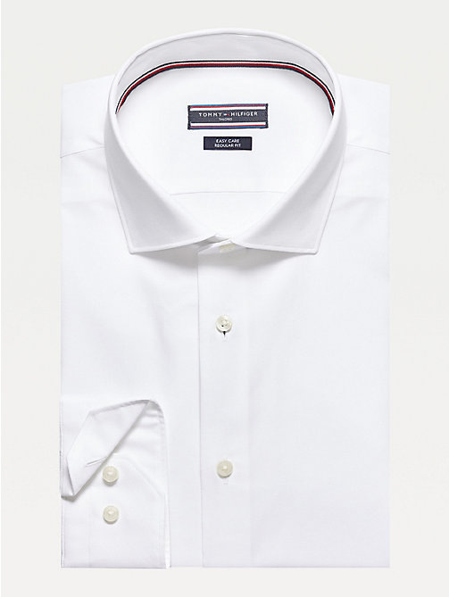TOMMY HILFIGER Poplin Fitted Shirt - 100 - TOMMY HILFIGER Tailored - main image