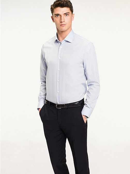 TOMMY HILFIGER Poplin Fitted Shirt - 411 - TOMMY HILFIGER Formal Shirts - detail image 1