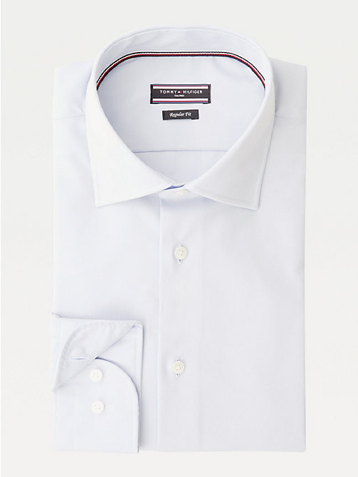 TOMMY HILFIGER Poplin Fitted Shirt - 411 - TOMMY HILFIGER Formal Shirts - main image
