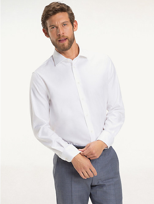 TOMMY HILFIGER Oxford Cotton Woven Shirt - 100 - TOMMY HILFIGER Tailored - detail image 1
