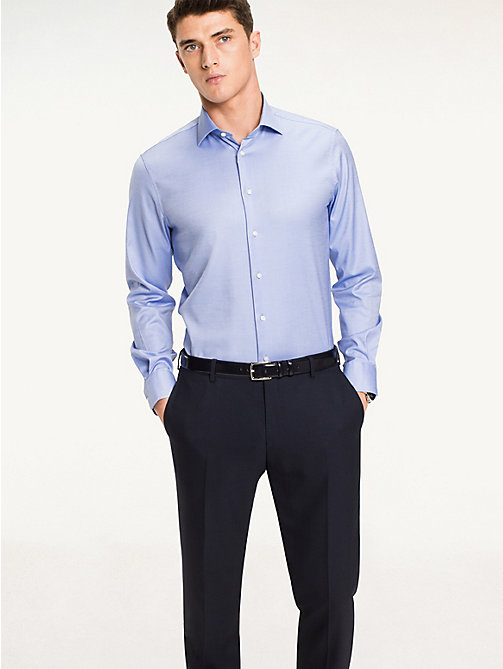 TOMMY HILFIGER Jhn Fitted Shirt - 415 - TOMMY HILFIGER Formal Shirts - main image