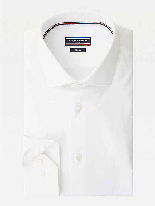 TOMMY HILFIGER Stretch Slim Fit Shirt - 100 - TOMMY HILFIGER Formal Shirts - main image