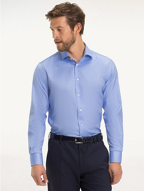 TOMMY HILFIGER Stretch Slim Fit Shirt - 415 - TOMMY HILFIGER Formal Shirts - detail image 1