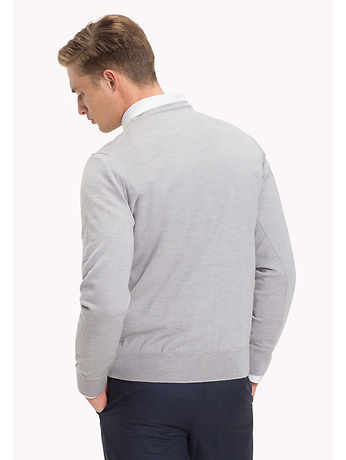 TOMMY HILFIGER Wełniany sweter - GRAY VIOLET HEATHER - TOMMY HILFIGER Swetry - detail image 1