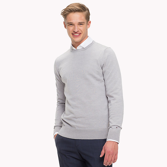 TOMMY HILFIGER Wool Jumper - HAUTE RED - TOMMY HILFIGER Men - main image