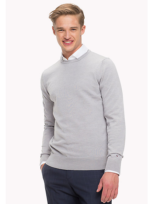 TOMMY HILFIGER Wełniany sweter - GRAY VIOLET HEATHER - TOMMY HILFIGER Swetry - main image