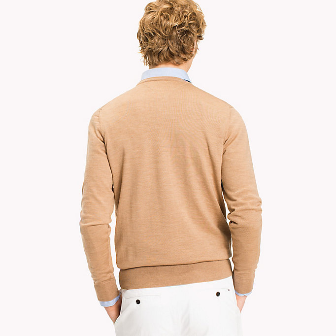 TOMMY HILFIGER Wool Jumper - CLOUD HEATHER - TOMMY HILFIGER Men - detail image 1