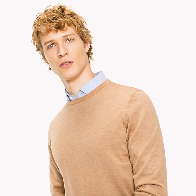 TOMMY HILFIGER Wool Jumper - CLOUD HEATHER - TOMMY HILFIGER Men - detail image 2