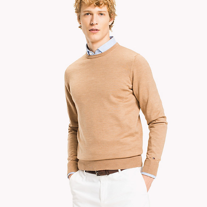 TOMMY HILFIGER Wool Jumper - CLOUD HEATHER - TOMMY HILFIGER Men - main image