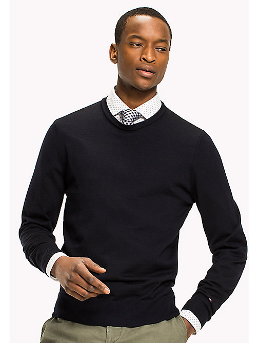 TOMMY HILFIGER Wool Jumper - SKY CAPTAIN - TOMMY HILFIGER Jumpers - main image