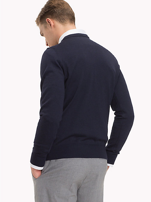 TOMMY HILFIGER Wool Jumper - NAVY BLAZER - TOMMY HILFIGER Jumpers - detail image 1