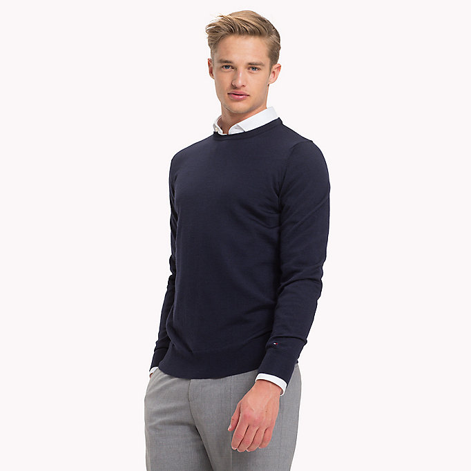 TOMMY HILFIGER Wool Jumper - INCA GOLD - TOMMY HILFIGER Men - main image