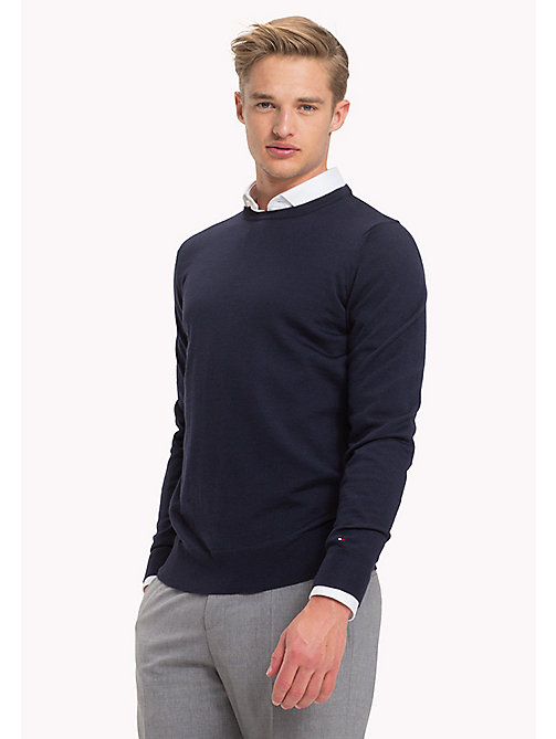 TOMMY HILFIGER Wool Jumper - NAVY BLAZER - TOMMY HILFIGER Jumpers - main image