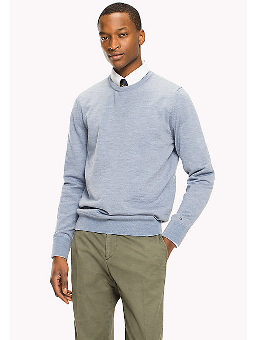 TOMMY HILFIGER Wool Jumper - INFINITY HEATHER - TOMMY HILFIGER Jumpers - main image