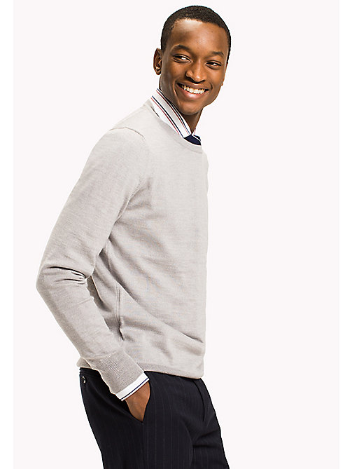 TOMMY HILFIGER Pull en laine - CLOUD HEATHER - TOMMY HILFIGER Pulls & Sweats - image principale