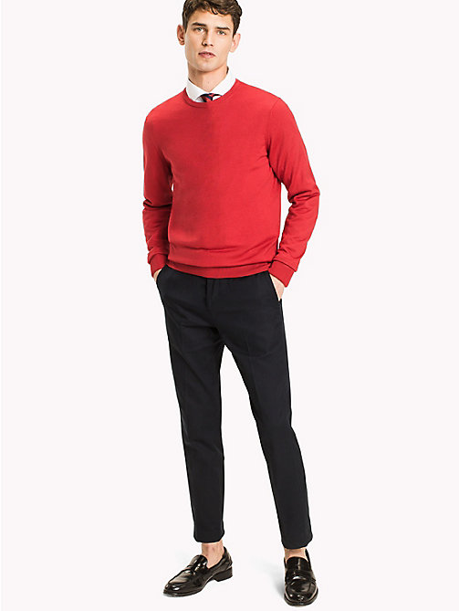 TOMMY HILFIGER Wool Jumper - HAUTE RED - TOMMY HILFIGER Jumpers - main image