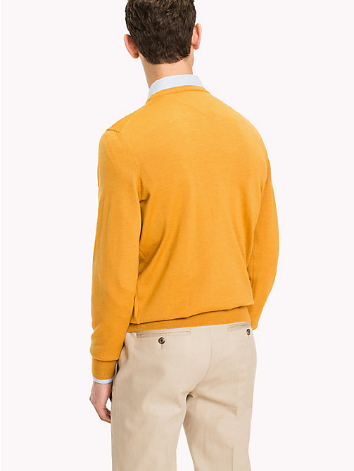 TOMMY HILFIGER Wool Jumper - INCA GOLD - TOMMY HILFIGER Clothing - detail image 1