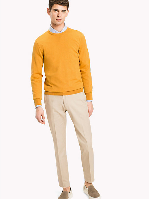 TOMMY HILFIGER Wool Jumper - INCA GOLD - TOMMY HILFIGER Clothing - main image