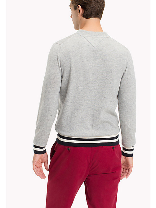 TOMMY HILFIGER Wool Colourblock Sweater - CLOUD HEATHER - TOMMY HILFIGER Jumpers - detail image 1