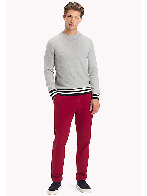 TOMMY HILFIGER Wool Colourblock Sweater - CLOUD HEATHER - TOMMY HILFIGER Jumpers - main image