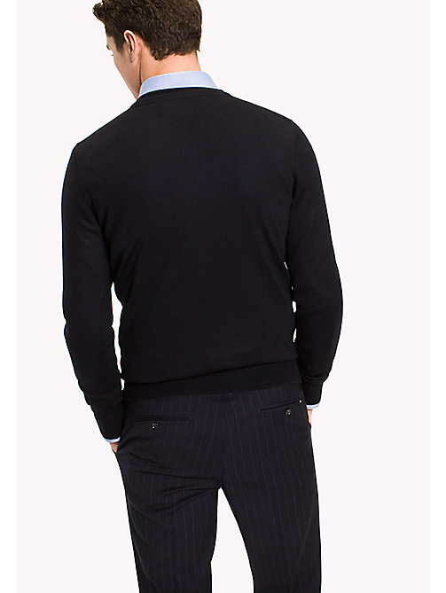 TOMMY HILFIGER V-Neck Wool Jumper - SKY CAPTAIN - TOMMY HILFIGER Tailored - detail image 1