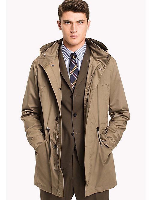 TOMMY HILFIGER Parka in cotone - OLIVE - TOMMY HILFIGER Cappotti & Giacche - immagine principale