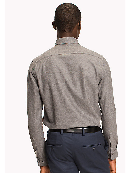 TOMMY HILFIGER Mercerized Cotton Polo - SILVER FOG HEATHER - TOMMY HILFIGER Tailored - detail image 1