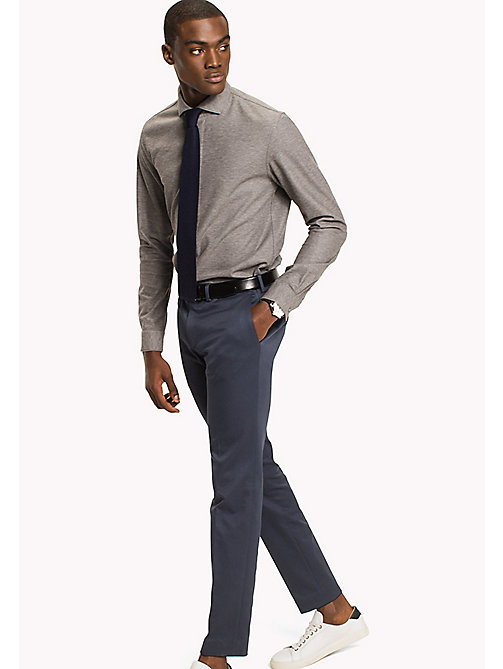 TOMMY HILFIGER Mercerized Cotton Polo - SILVER FOG HEATHER - TOMMY HILFIGER Tailored - main image