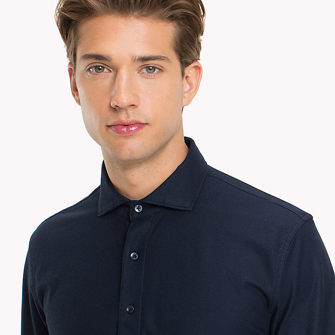 TOMMY HILFIGER Mercerized Cotton Polo - SILVER FOG HEATHER - TOMMY HILFIGER Clothing - detail image 2