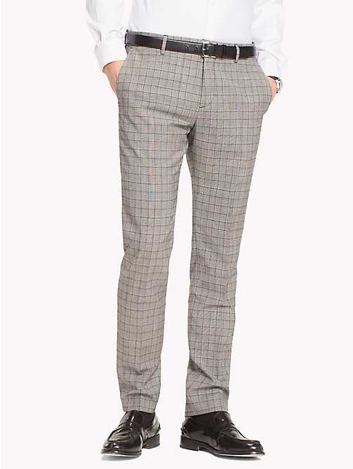 TOMMY HILFIGER Slim Fit Checked Pants - 017 - TOMMY HILFIGER Tailored - main image