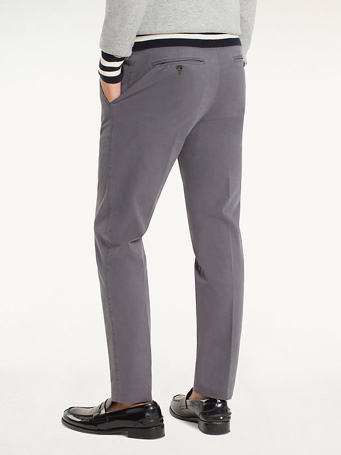 TOMMY HILFIGER Cotton Twill Trousers - 429 - TOMMY HILFIGER Men - detail image 1