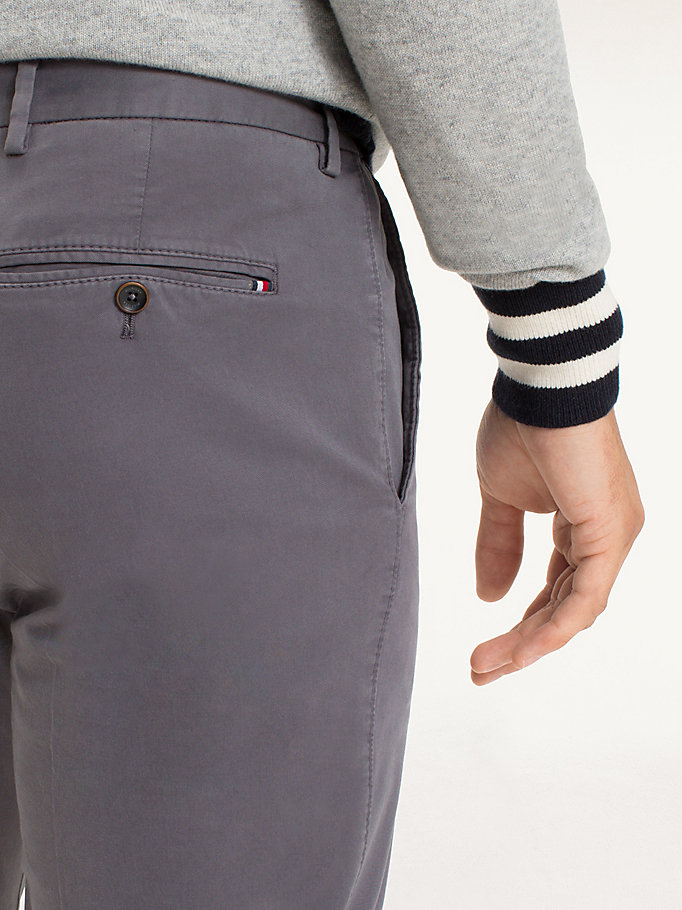 TOMMY HILFIGER Cotton Twill Trousers - 429 - TOMMY HILFIGER Men - detail image 3