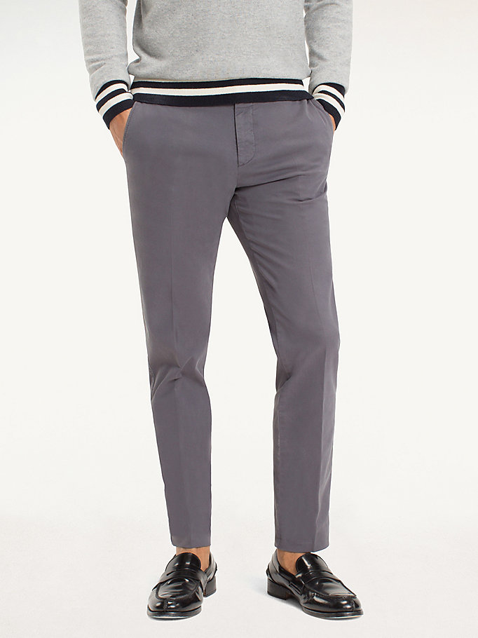 TOMMY HILFIGER Cotton Twill Trousers - 429 - TOMMY HILFIGER Men - main image