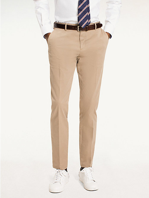 TOMMY HILFIGER Cotton Twill Trousers - 203 - TOMMY HILFIGER What to Wear - main image