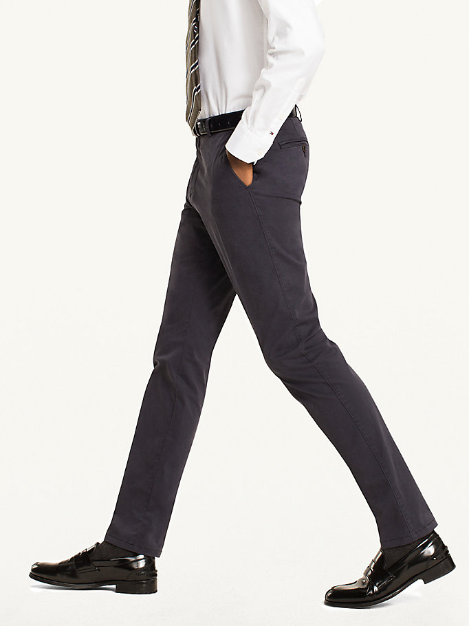 TOMMY HILFIGER Cotton Twill Trousers - 203 - TOMMY HILFIGER Men - detail image 2
