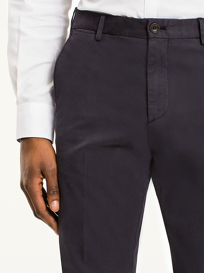 TOMMY HILFIGER Cotton Twill Trousers - 203 - TOMMY HILFIGER Men - detail image 3