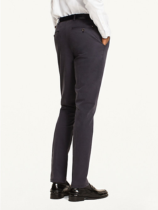 TOMMY HILFIGER Cotton Twill Trousers - 429 - TOMMY HILFIGER Formal Trousers - detail image 1