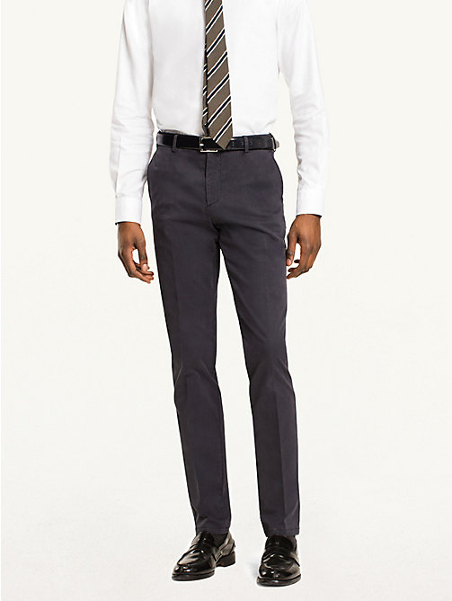 TOMMY HILFIGER Cotton Twill Trousers - 429? - TOMMY HILFIGER Formal Trousers - main image