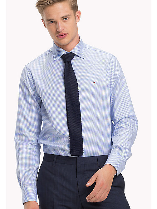 TOMMY HILFIGER Regular Fit Checkered Shirt - 415 - TOMMY HILFIGER Formal Shirts - main image