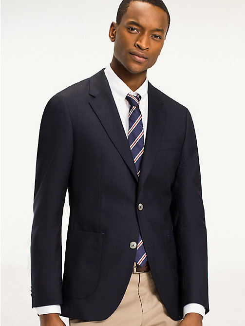 TOMMY HILFIGER Tailored Virgin Wool Jacket - 429 - TOMMY HILFIGER What to Wear - main image