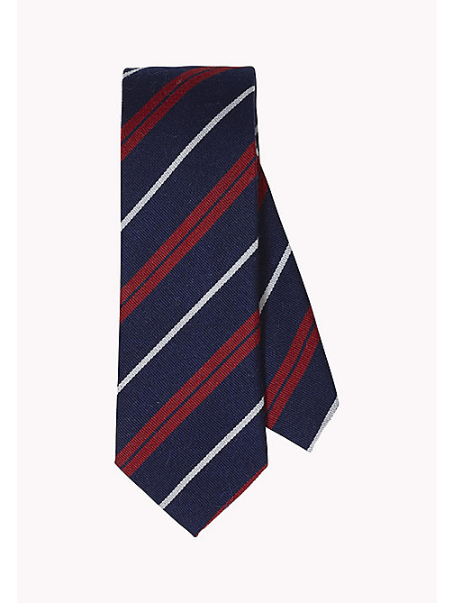 TOMMY HILFIGER Striped Wool Silk Tie - 429 - TOMMY HILFIGER Ties & Pocket Squares - main image